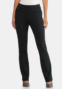 Petite Slim Bootcut Ponte Pants