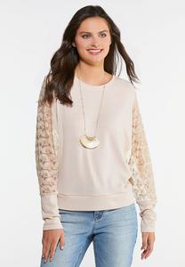 Plus Size Lace Thermal Top
