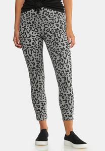 Cropped Leopard Active Leggings