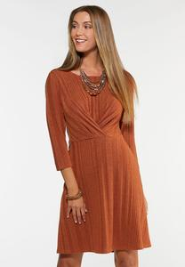 Plus Size Ribbed Twist Dress