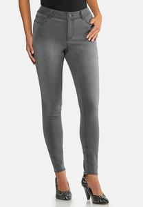 Gray Wash Jeggings
