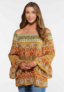 Plus Size Bell Sleeve Poet Top