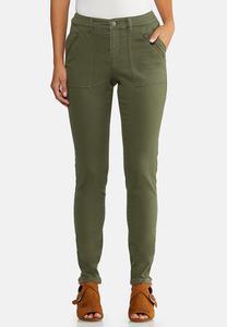 Petite Olive Utility Jeans