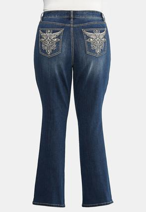 Plus Petite Curvy Studded Pocket Bootcut Jeans