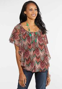 Plus Size Autumn Breeze Capelet Top