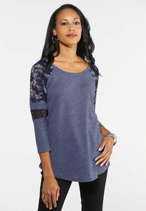 Plus Size Sass Sleeve Thermal Top