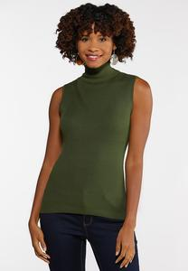 Plus Size Turtleneck Sweater Tank