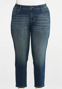 Plus Size Girlfriend Ankle Jeans