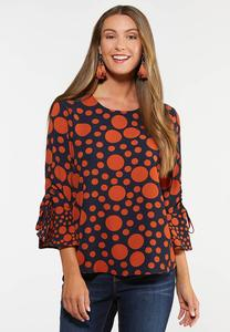 Plus Size Tie Dot Top