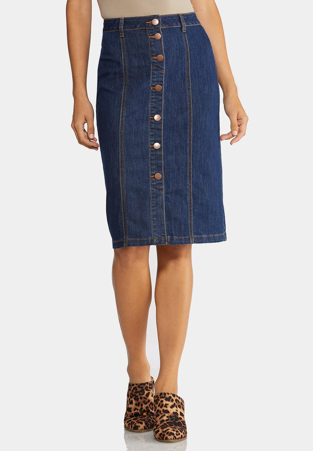 nice shoes new & pre-owned designer full range of specifications Plus Size Button Down Denim Skirt