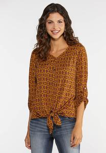 Neutral Button Front Top
