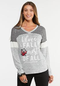Plus Size I Love Fall Top