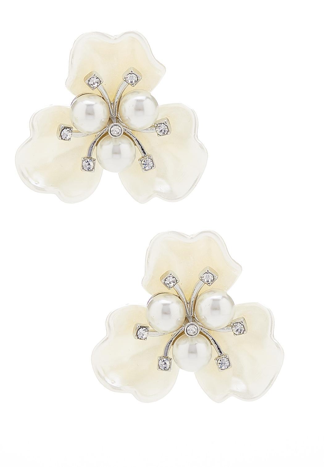 Statement Pearl Button Earrings