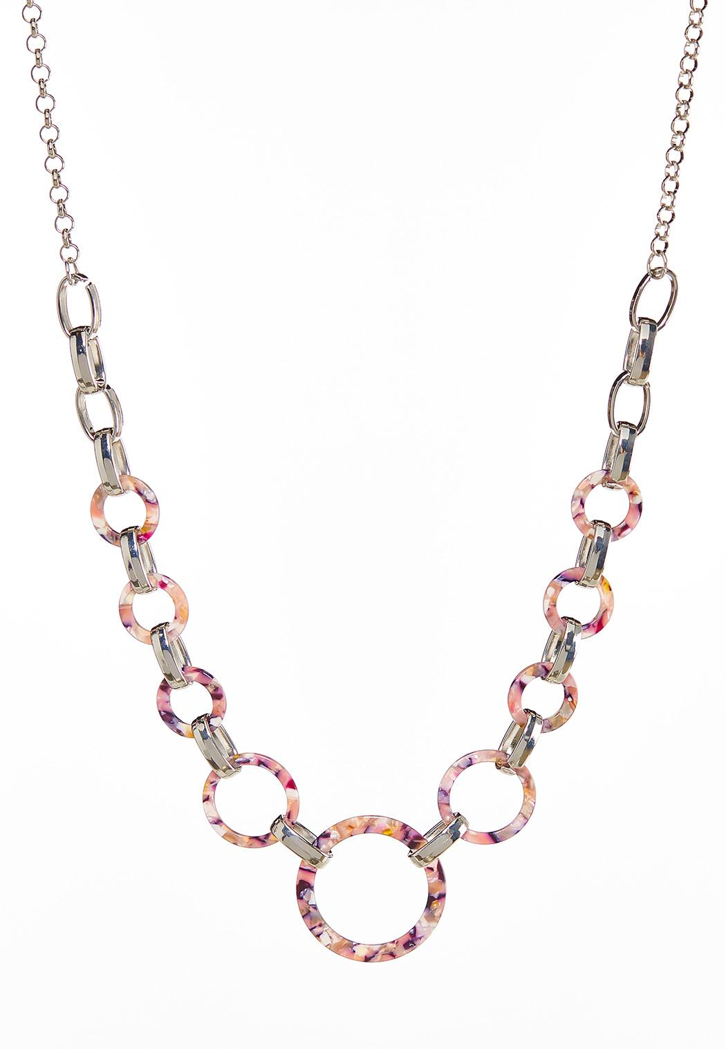 Lucite Link Chain Necklace