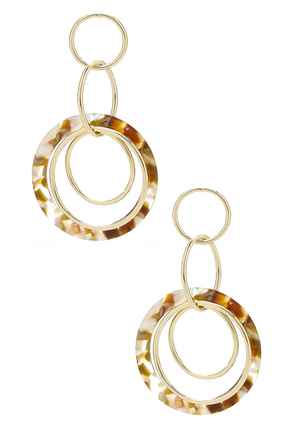 Marbled Linked Lucite Earrings