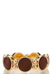 Wooden Circle Stretch Bracelet
