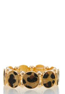 Textured Leopard Stretch Bracelet