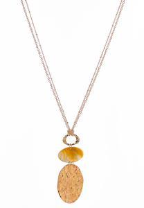 Cork Pendant Necklace