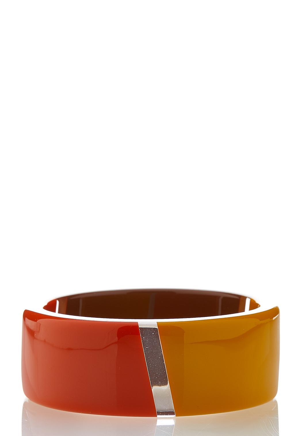 Autumn Resin Bangle Bracelet