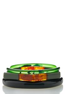 Multi Resin Bracelet Set