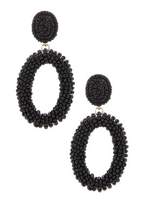 Oval Seed Bead Earrings