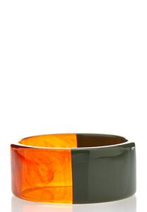 Two Toned Resin Bangle Bracelet