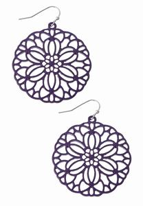 Filigree Circle Earrings