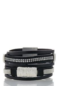 Sparkles And Studs Strap Bracelet