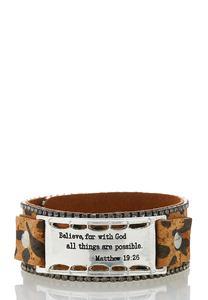 Cheetah Cork Snap Bracelet