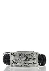 Engraved Inspirational Cord Bracelet