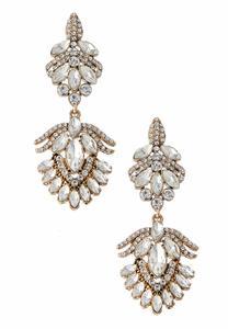 Deco Stone Chandelier Earrings