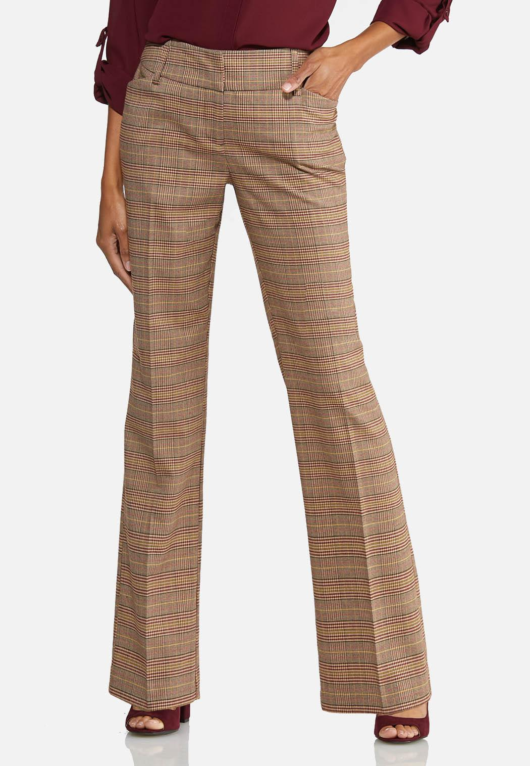 Petite Plaid Trouser Pants