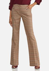 Petite Wide Leg Plaid Pants