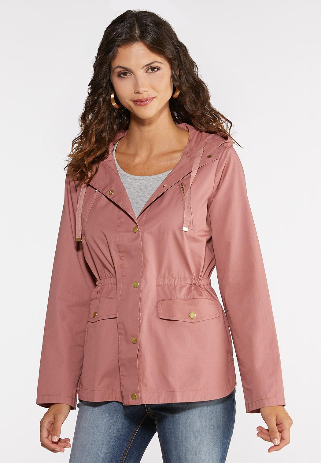 Plus Size Hooded Utility Jacket
