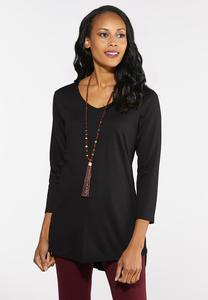 Plus Size Side Button Ponte Top