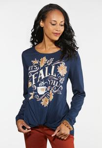 Plus Size Fall Y`all Graphic Tee