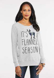 Flannel Season Sweatshirt