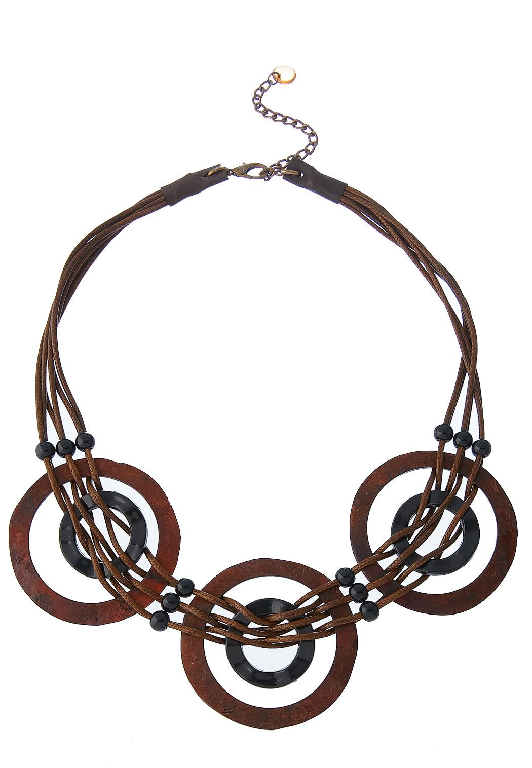 Multi Ring Corded Necklace
