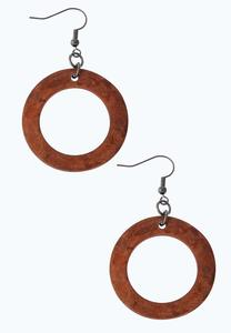 Rust Ring Dangle Earrings