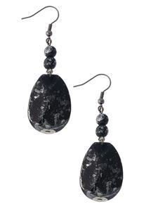 Black Marbled Earrings