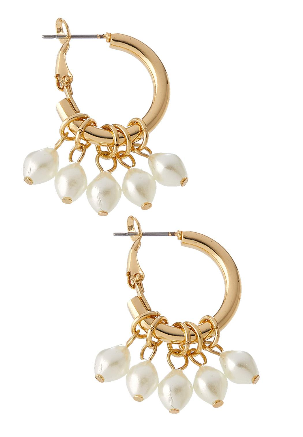 Small Pearl Hoop Earrings