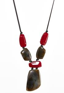 Chunky Stone Cord Necklace