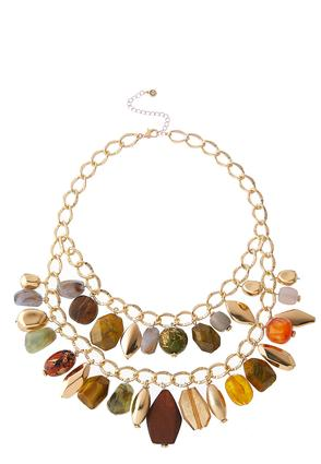 Links And Stones Necklace