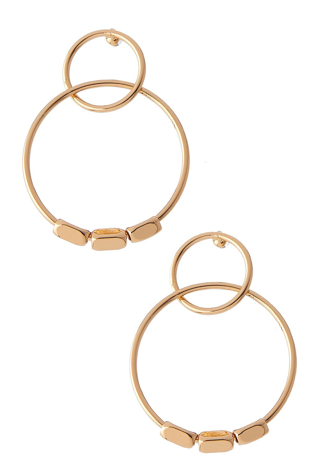 Mod Beaded Circle Earrings