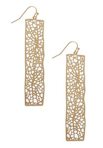 Filigree Metal Earrings