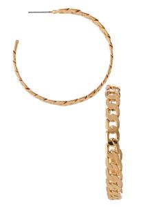 Metal Chain Hoop Earrings