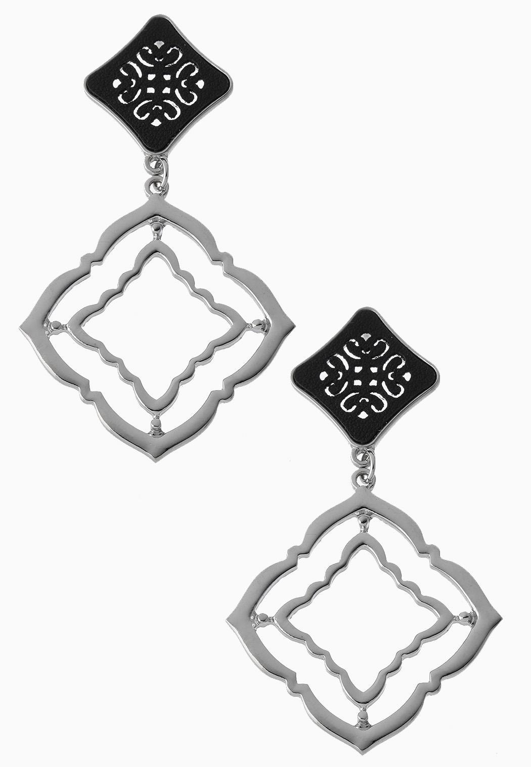 Metal Medallion Earrings