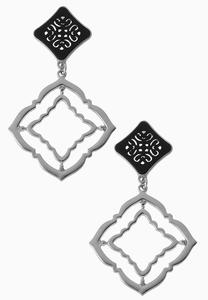 Metal Medallion Earrings