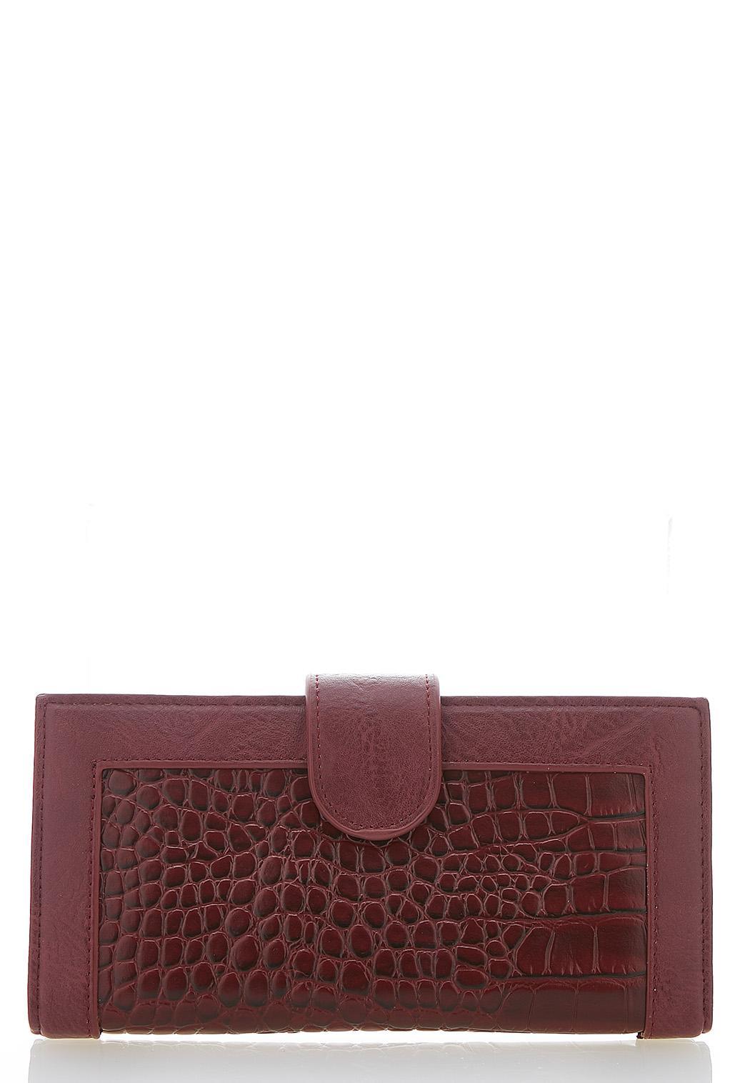 Croc Snap Flap Wallet