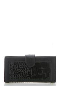 Croc Snap Flap Wallet